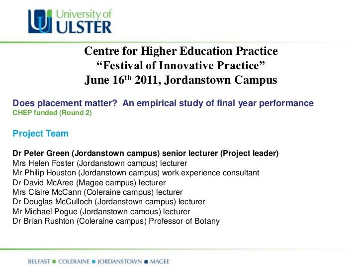 """Centre for Higher Education Practice                    """"Festival of Innovative Practice""""                  June 16th 2011,..."""