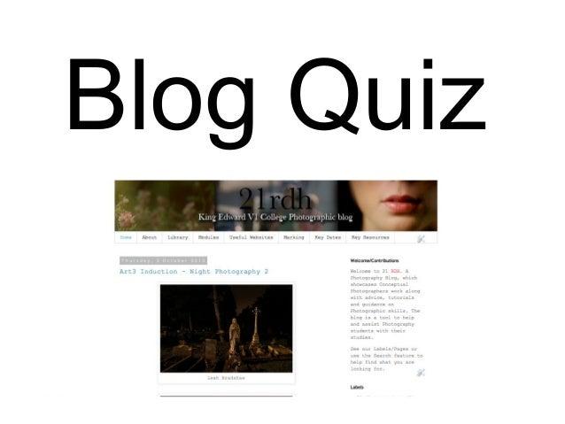 Blog Quiz