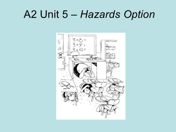 A2 Unit 5 –  Hazards Option