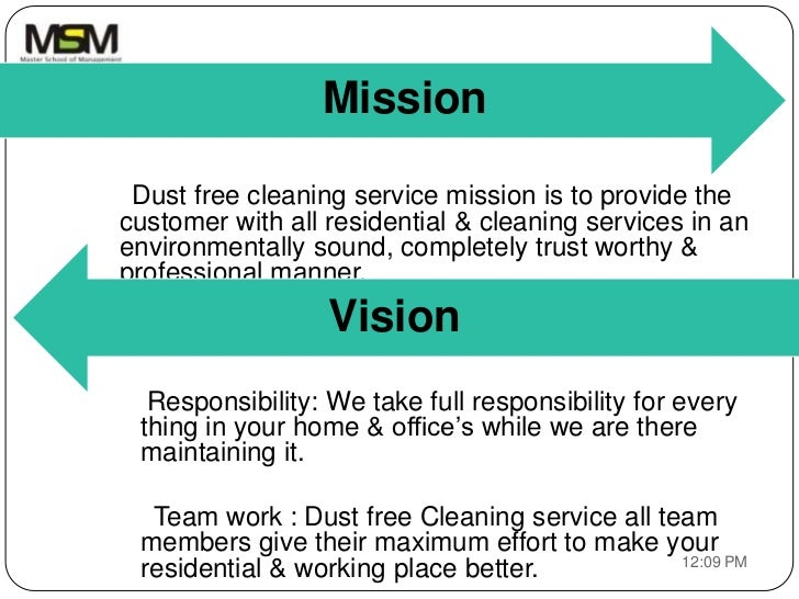Business Plan Of Cleaning Service