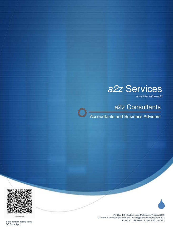a2z Services                                                                     a visible value-add                      ...