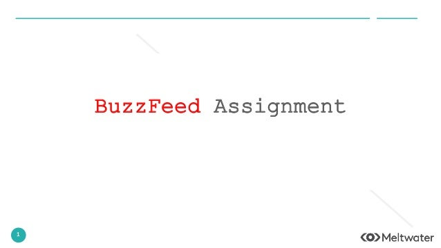 1 BuzzFeed Assignment