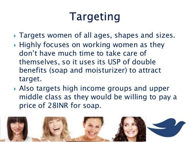 segmentation of dove Market segmentation is the process of dividing the total market into groups or segments that have relatively similar product needs for the purpose of designing a marketing mix that will more precisely match the needs of individuals in a selected segment.