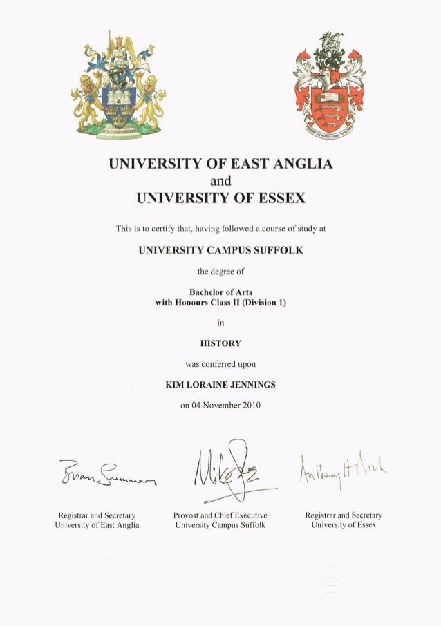 History Degree Certificate