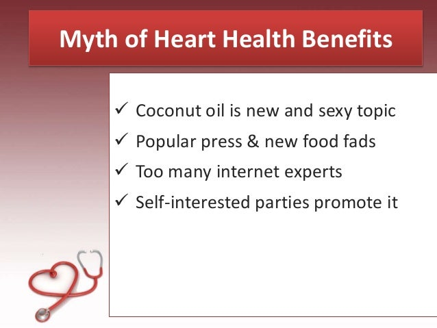 Image result for coconut oil is a health myth