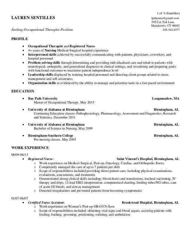 Resume Lauren Sentilles 8-28-15