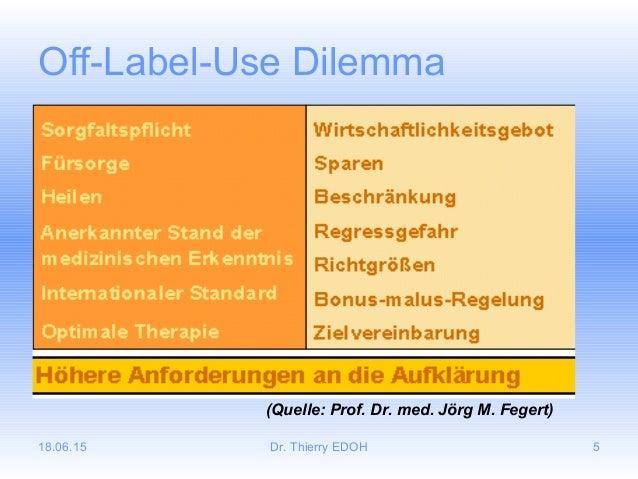 18.06.15 Dr. Thierry EDOH 5 Off-Label-Use Dilemma (Quelle: Prof. Dr. med. Jörg M. Fegert)