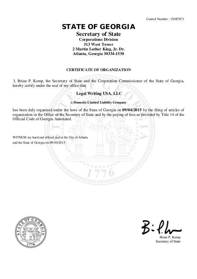 Legal Writing Usa Formation Validation