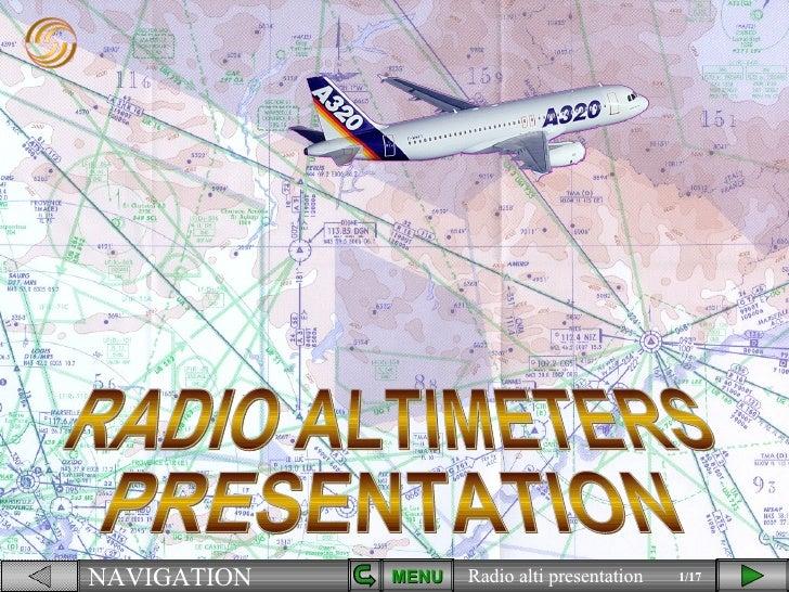 RADIO ALTIMETERS PRESENTATION MENU