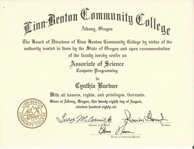 AS Computer Programming Degree Certificate