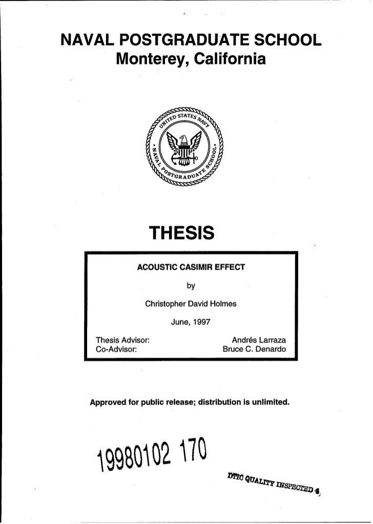 Naval postgraduate school thesis 2010