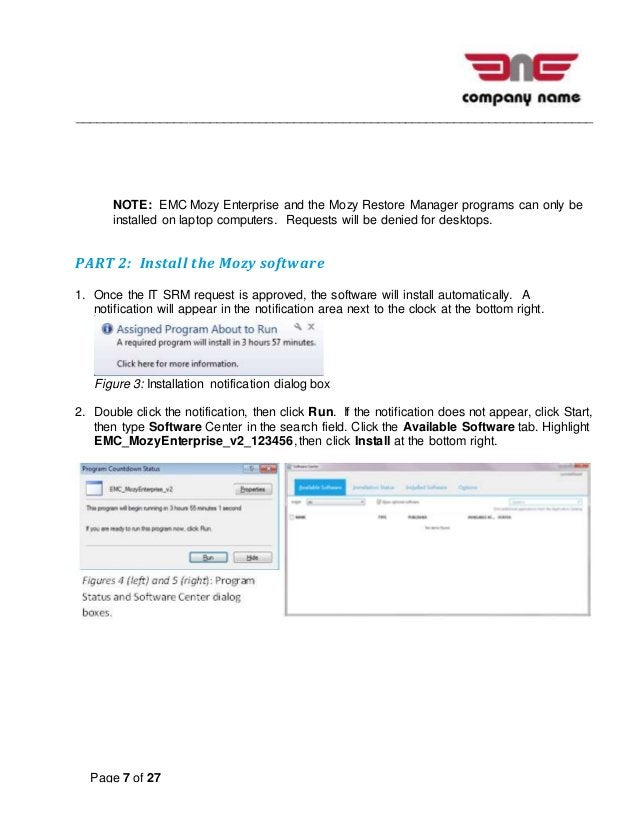 __________________________________________________________________________ Page 7 of 27 NOTE: EMC Mozy Enterprise and the ...