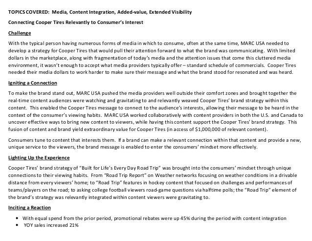 Case study cooper tire and rubber company