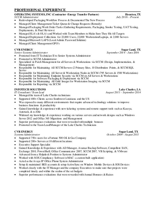 Beautiful Cvr Energy Resume Elaboration - Best Resume Examples by ...