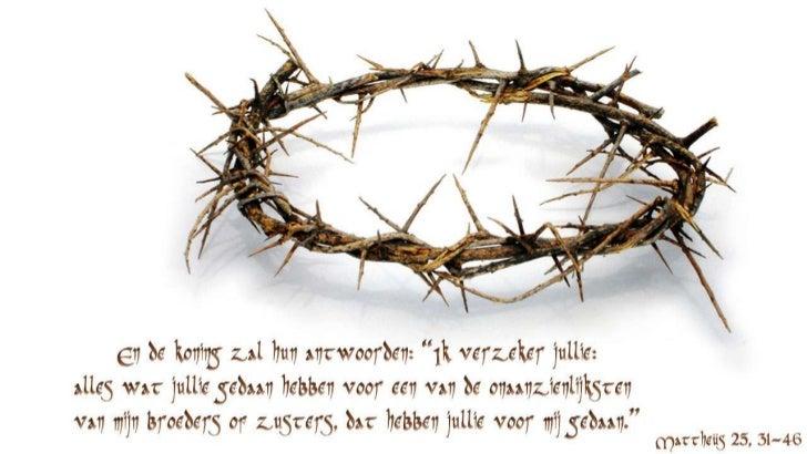 Wij mogen sprekend op God lijken.Hij brengt ons samen in een kring,waar wij elkaar de handen reiken:de laatste wordt steed...