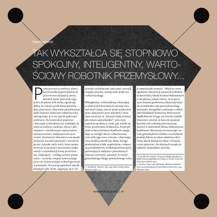 Paweł JaworskiTak wykszTałca się sTopniowospokojny, inTeligenTny, warTo-ściowy roboTnik przemysłowy...P          orównywan...