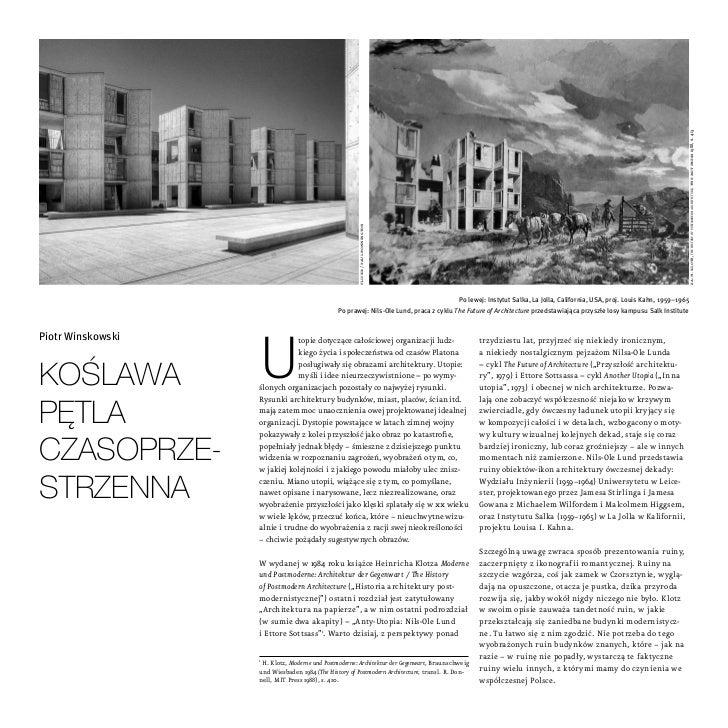 za: h. klotz, the history of postmodern architecture, the mit press 1988, s. 413                                          ...