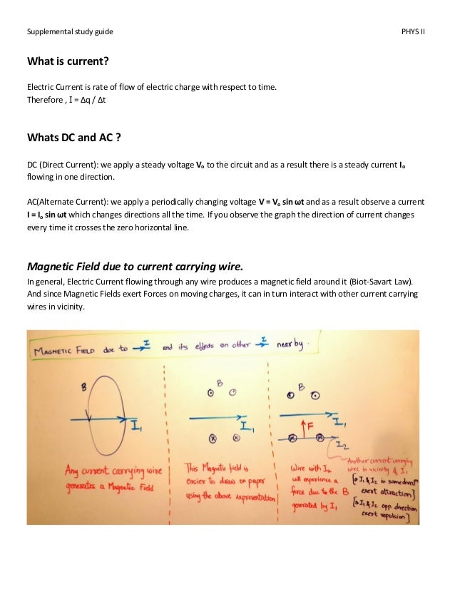 physics ii supplemental guide rh slideshare net Examples of Magnetic Fields Tesla Units Physics