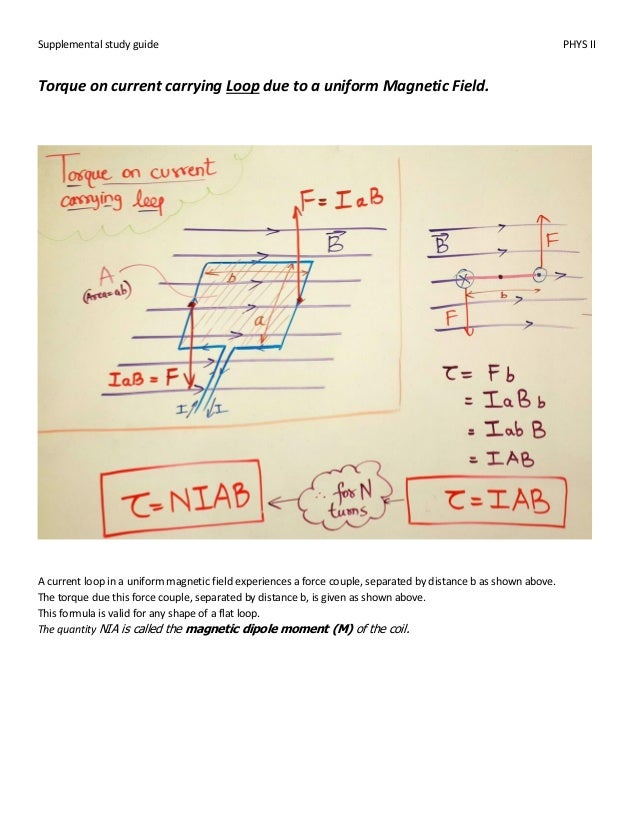 physics ii supplemental guide rh slideshare net Examples of Magnetic Fields Examples of Magnetic Fields