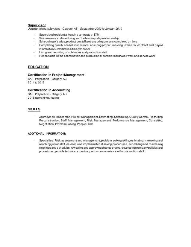 Enchanting Es Project Manager Lebenslauf Calgary Image - FORTSETZUNG ...
