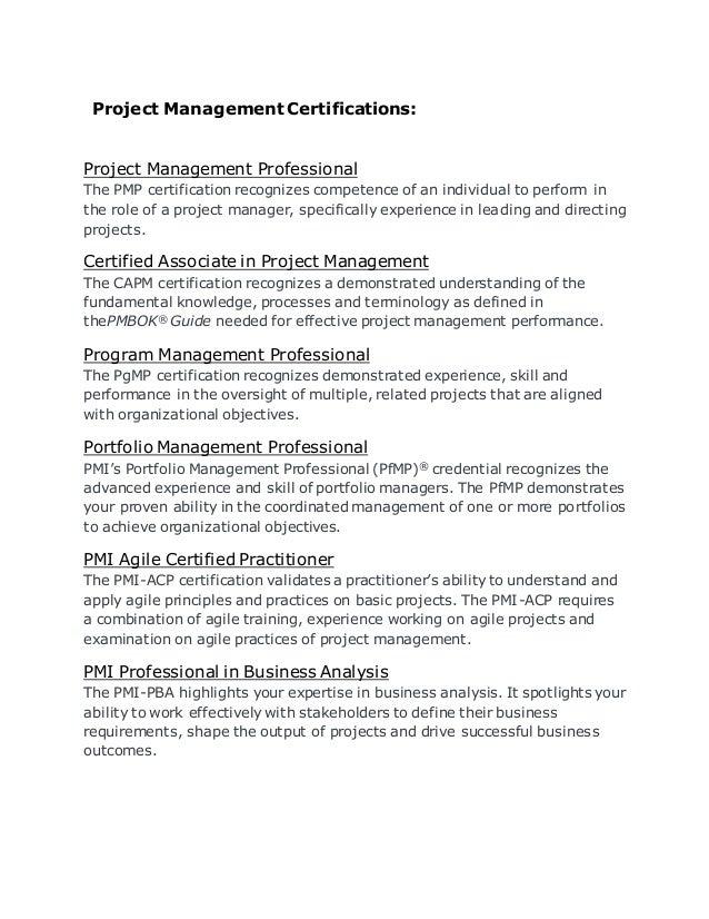 Project Management Certifications Is Audit