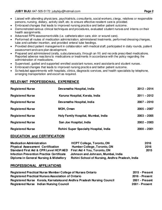Exelent Rpn Resume In Canada Motif - Examples Professional Resume ...