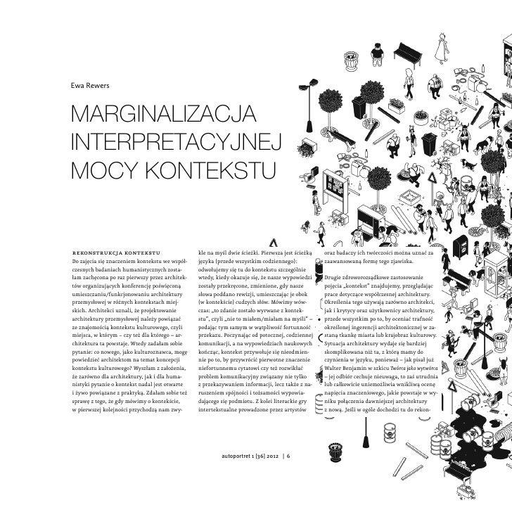 Ewa RewersMarginalizacjainterpretacyjnejmocy konteksturekonstrukcja kontekstu                         kle na myśl dwie ści...