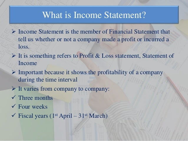 Income Statement Ppt