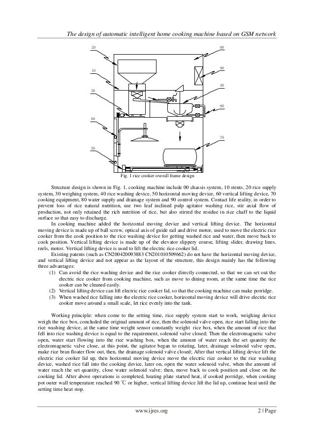The Design Of Automatic Intelligent Home Cooking Machine