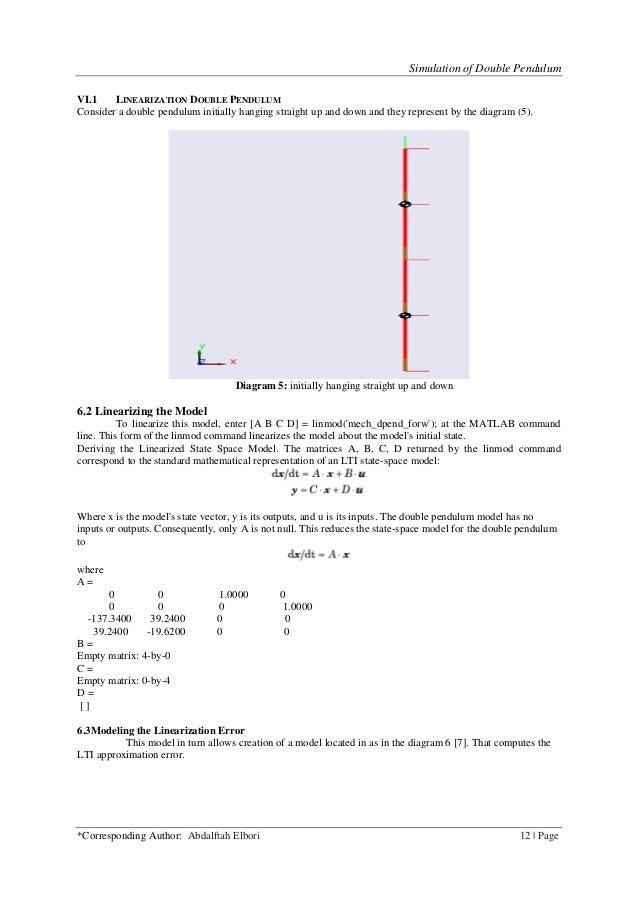 Simulation of Double Pendulum