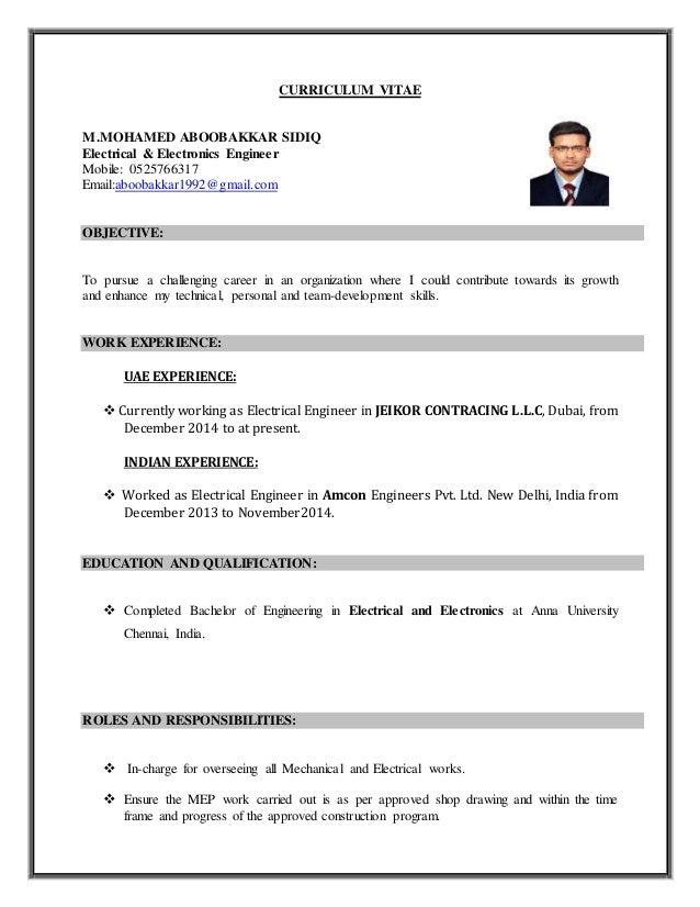 MEP Engineer Resume