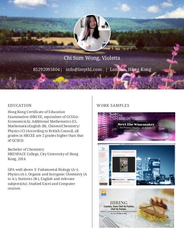 Violetta wongs cv digital marketing and london property 2016 yelopaper Images