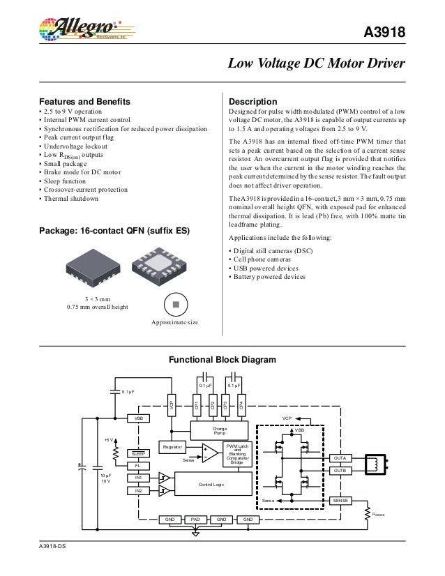 A3918                                                                                           Low Voltage DC Motor Drive...