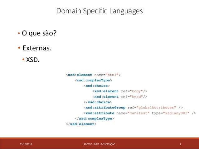 Domain Specific Language generation based on a XML Schema. Slide 2