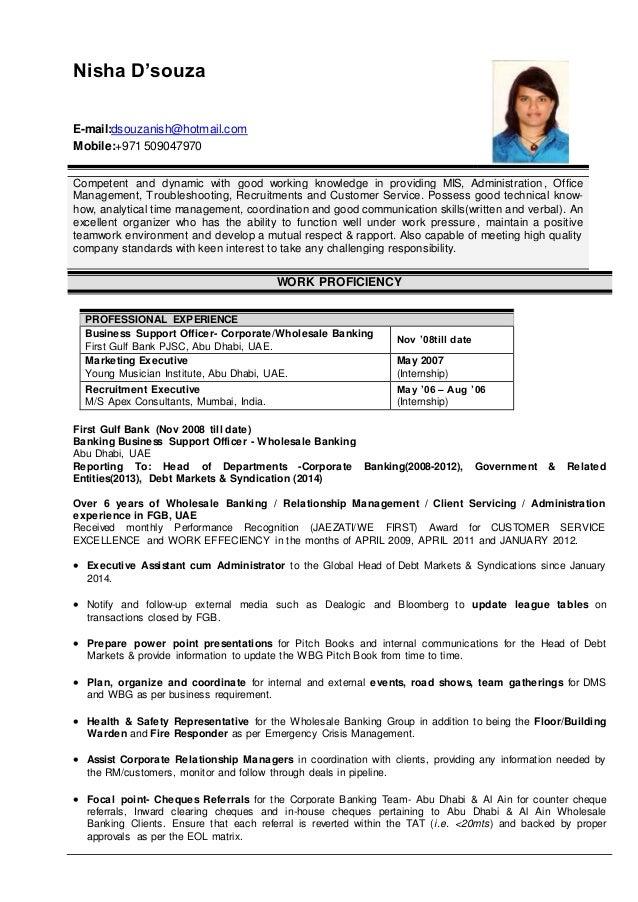 Nisha D\'souza Resume 2015