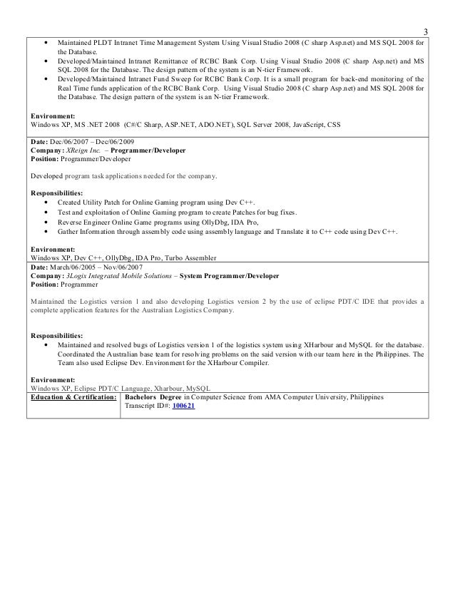 Outstanding Resume Layout Examples Of Resumes PC Magazine