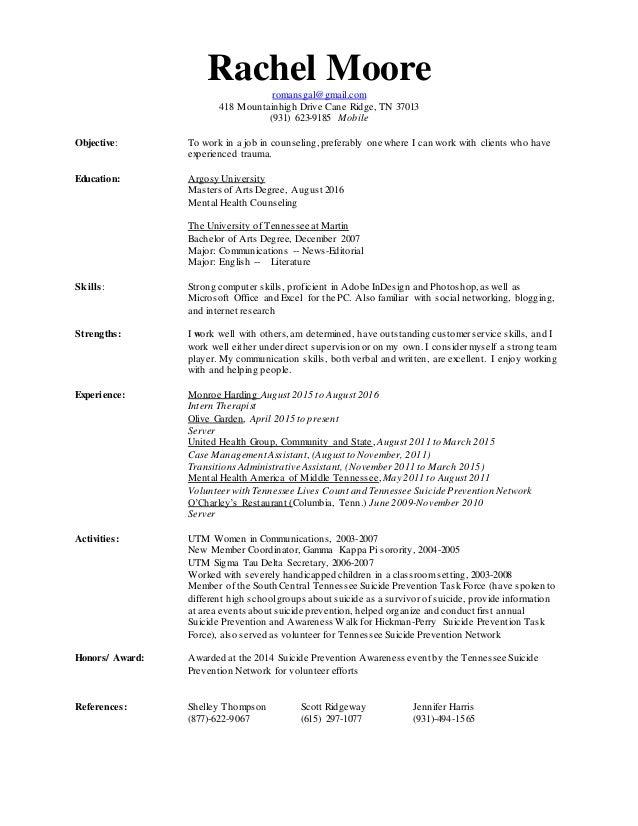 Rachel 2011 Updated Resume 1