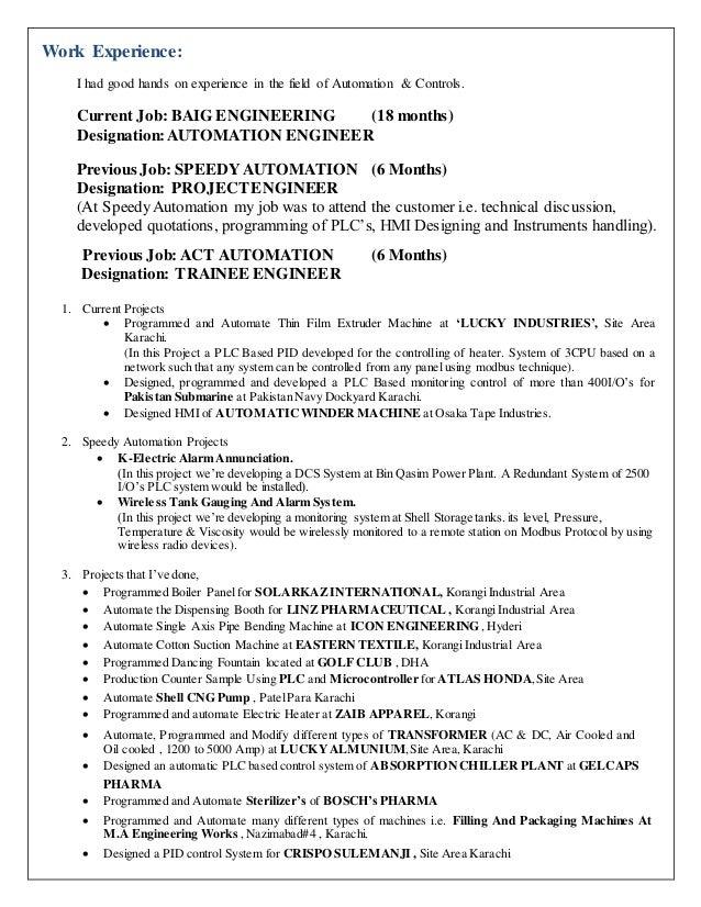 Hands on resume