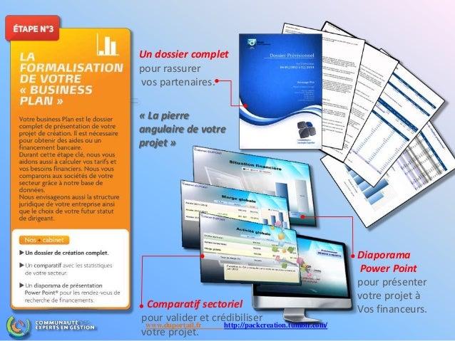 Diaporama Power Point pour présenter votre projet à Vos financeurs.Comparatif sectoriel pour valider et crédibiliser votre...