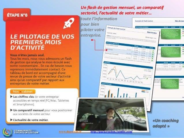 Un flash de gestion mensuel, un comparatif sectoriel, l'actualité de votre métier… toute l'information pour bien piloter v...