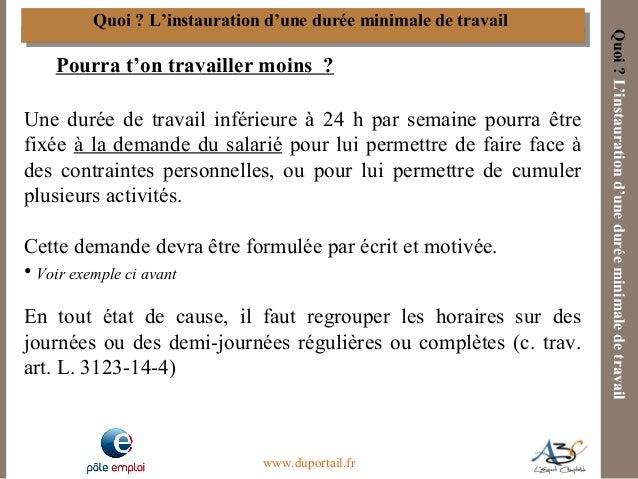 modele lettre temps partiel moins de 24h A3C   Le contrat de travail à temps partiel au regard de la Loi de Sé… modele lettre temps partiel moins de 24h