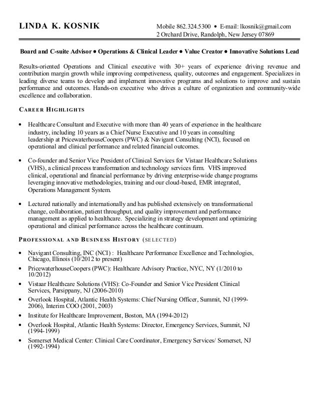 Healthcare Consulting Cover Letter