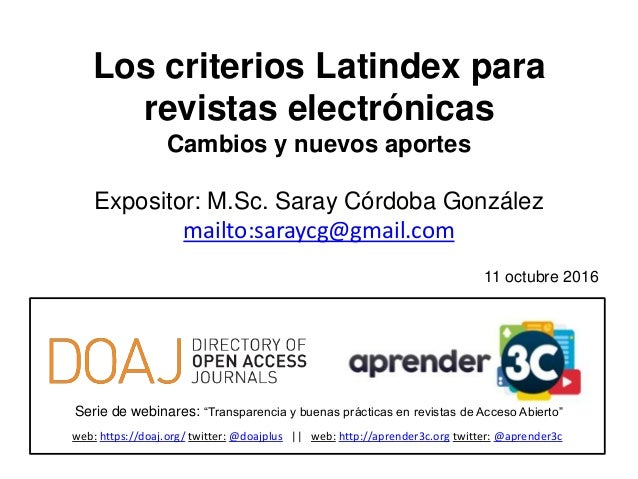 """Serie de webinares: """"Transparencia y buenas prácticas en revistas de Acceso Abierto"""" web: https://doaj.org/ twitter: @doaj..."""