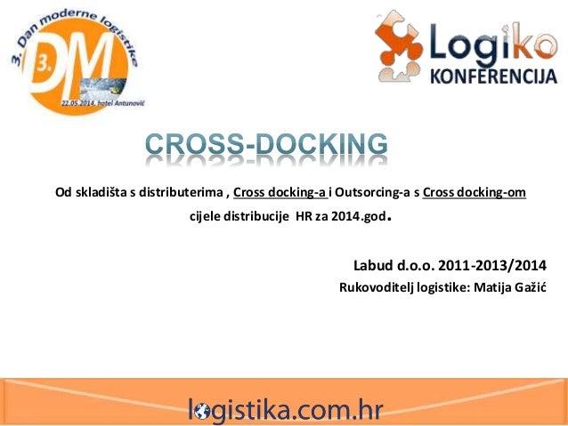 Od skladišta s distributerima , Cross docking-a i Outsorcing-a s Cross docking-om cijele distribucije HR za 2014.god. Labu...