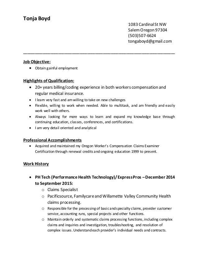 tonja boyd resume