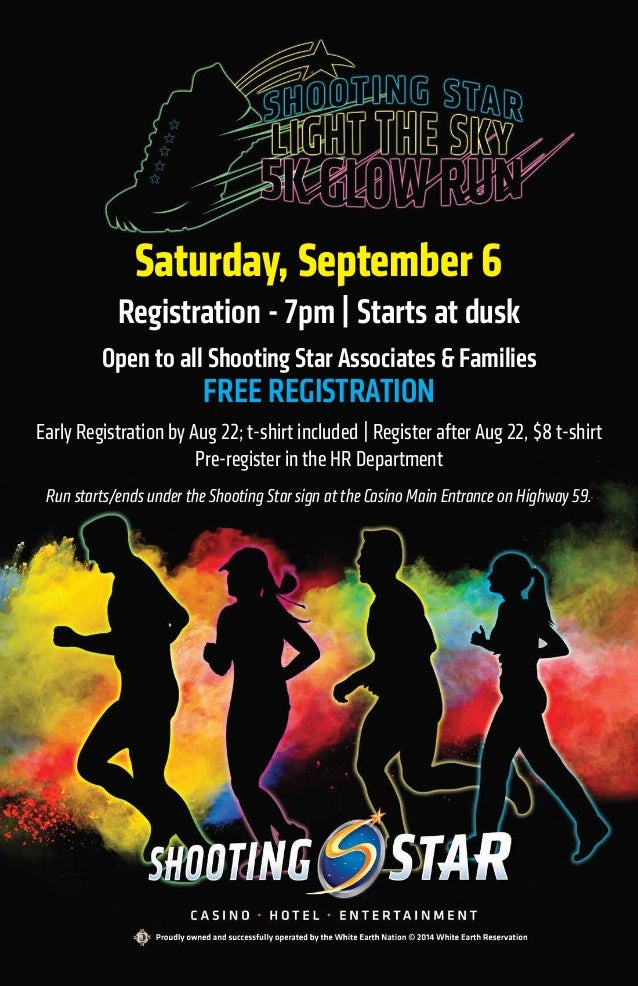 Saturday, September 6 Registration - 7pm | Starts at dusk Open to all Shooting Star Associates & Families FREE REGISTRATIO...