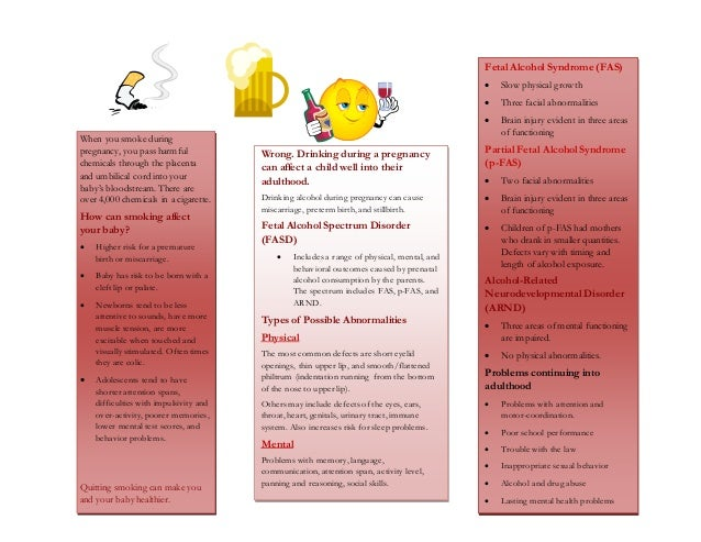 Brochure- smoking and drinking during pregnancy