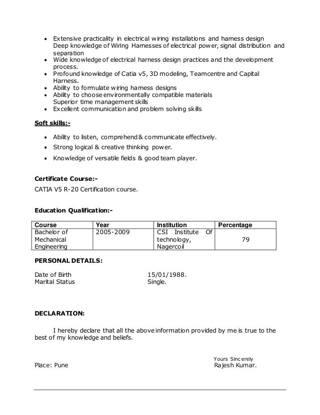 rajesh resume latest 4 638?cb=1416630961 rajesh resume latest wire harness designer jobs at crackthecode.co