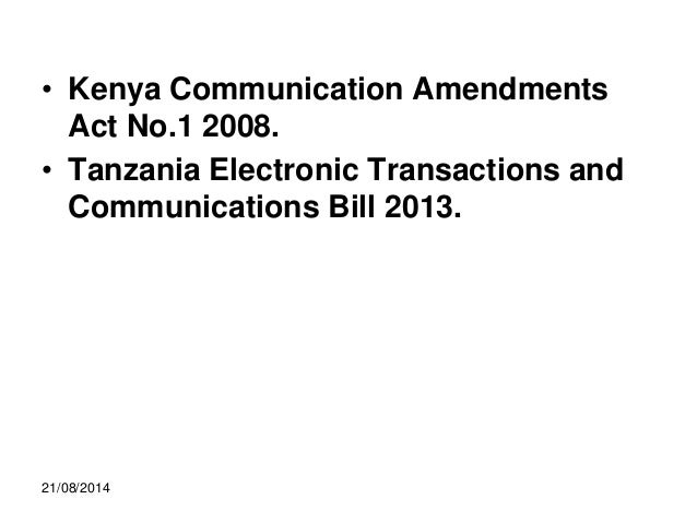 Electronic Contracting in Tanzania (Presentation)