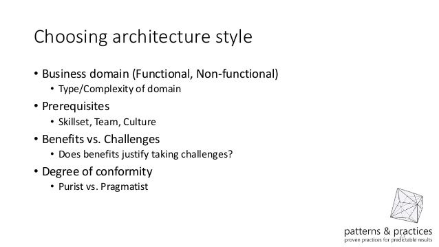 Azure Application Architecture Guide - Architecture prerequisites